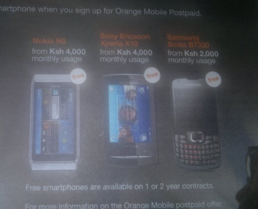 orange phone contract