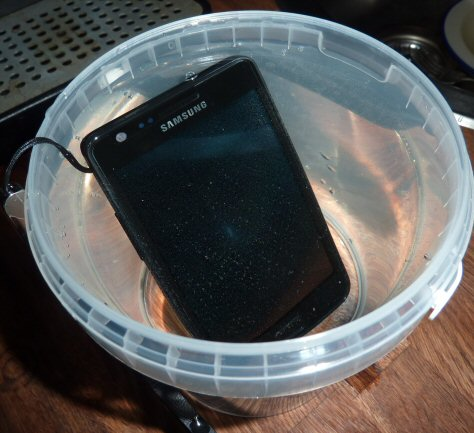 Wet Samsung Galaxy S 2