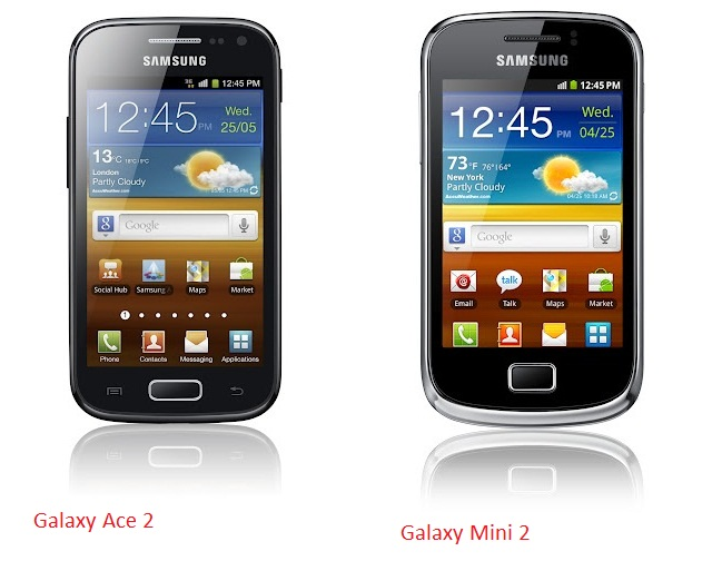 GALAXY Ace 2, Galaxy mini 2
