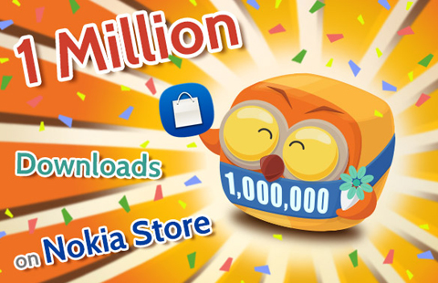 MOLOME 1 million downloads