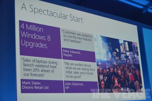 Microsoft Windows 8 upgrades