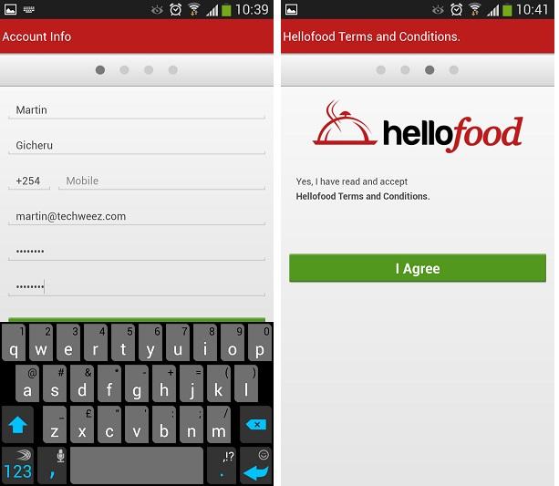 HelloFood Register