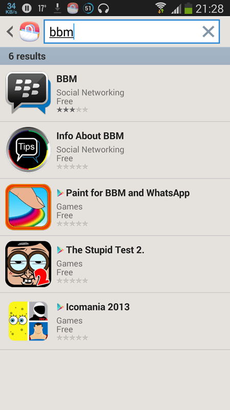 BBM for android 2