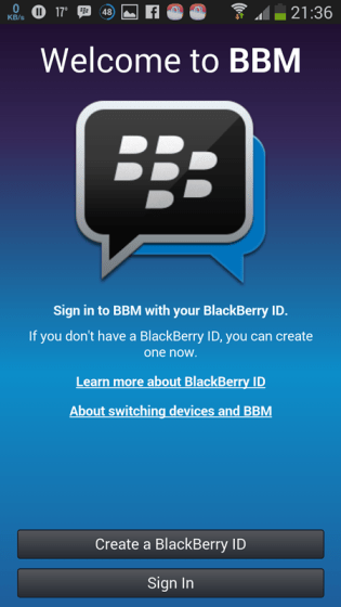 BBM for android 4