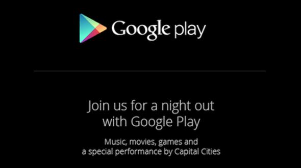 google play event invite october 24th