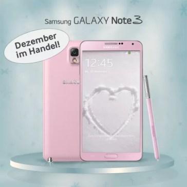 Bluish Pink Galaxy Note 3
