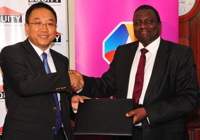 StarTimes Media CEO Mr. Leo Lee  and Equity Bank Chief Operating Officer Julius Kipng'etich