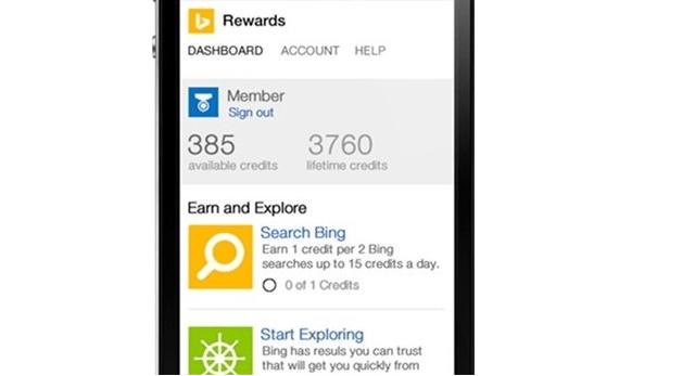 Bing Rewards mobile