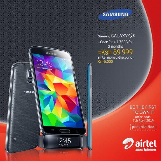 airtel galaxy s5 pre-order