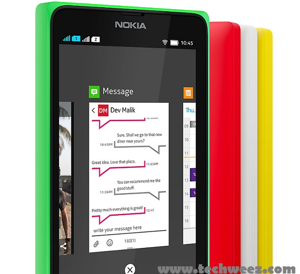 Nokia X Homescreen Switch