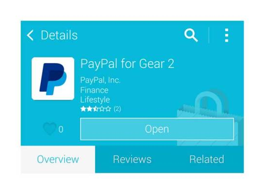 Paypal for Gear 2