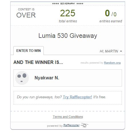 lumia 530 winner