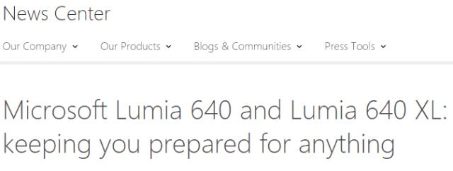 Lumia 640, Lumia 640 XL
