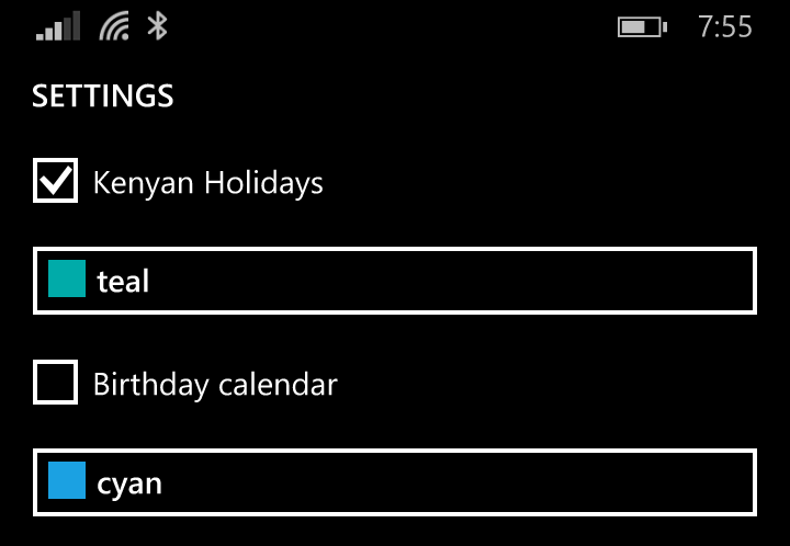 How to add the Kenyan Holiday Calendar to Your Lumia Phone