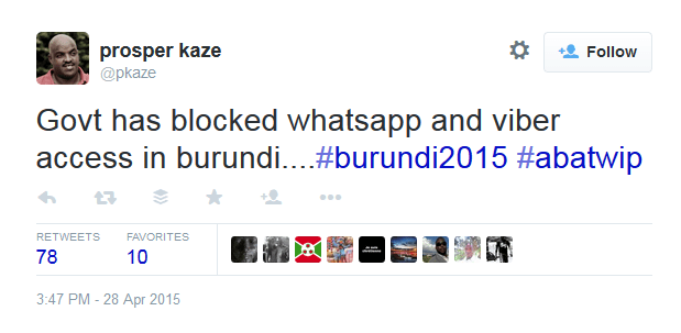 social media blocked in burundi