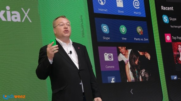 Elop, seen here during the unveiling of the Nokia X at Mobile World Congress in Barcelona, Spain, last year