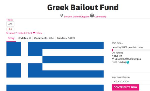 Indiegogo Greece Project