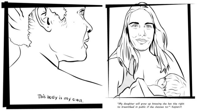 Feminist colouring book kickstarter