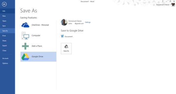 Google Drive Microsoft Office Plug-in 1