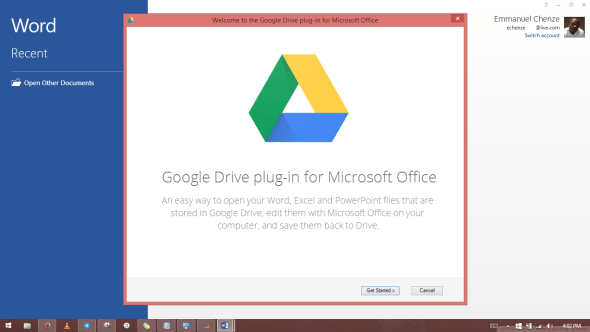 Google Drive plug-in for Microsoft Office 1