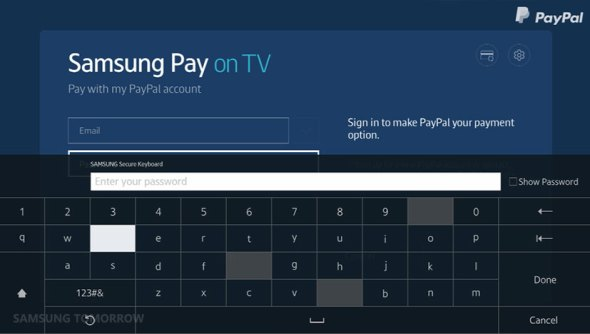 Samsung pay on TV 2