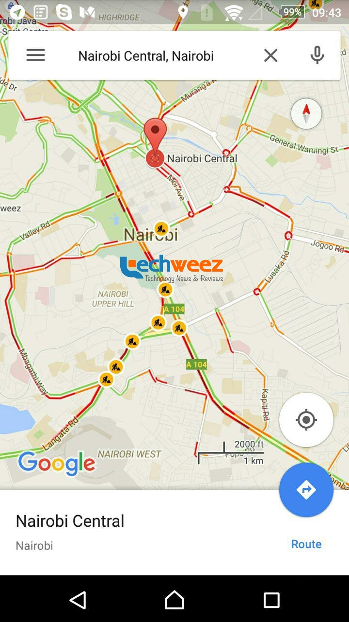 Google Maps traffic updae - Techweez