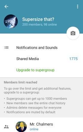 telegram supergroups
