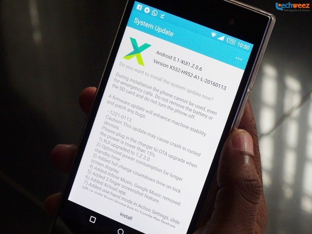 Infinix Zero 3 Getting New Software Update: Fast Battery Drain Issue
