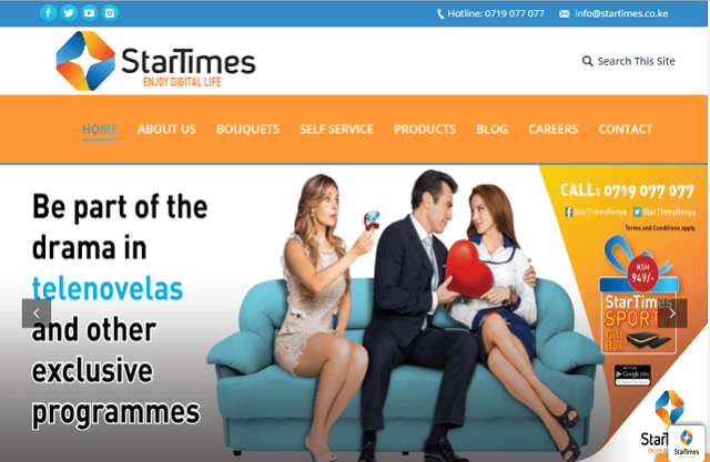 StarTimes website