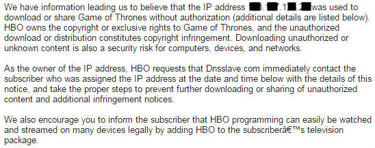 HBO warning