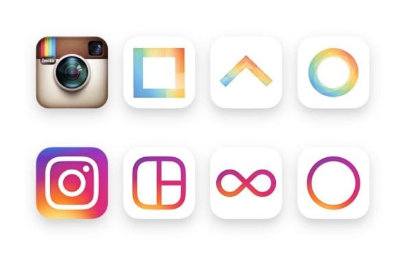 previous Instagram icons