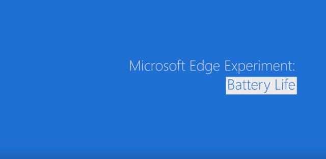 Microsoft Edge experiment