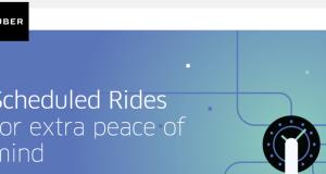 Uber scheduling rides