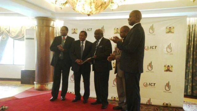 ICT Authority CEO Robert Mugo and County Heads of ICT at a previous event