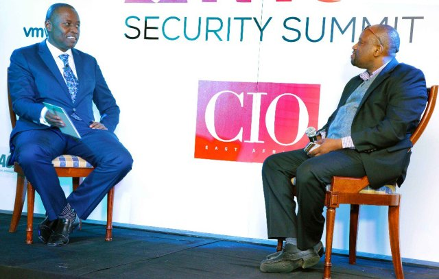 Robert Mugo, CEO ICT Authority and Harry Hare Chairman CIO East Africa