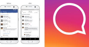 facebook new design instagram threaded comments