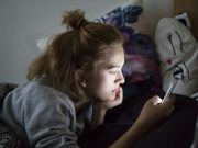 teen using mobile
