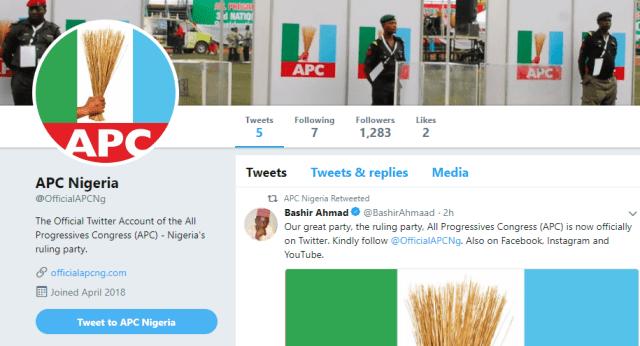 APC Nigeria Twitter