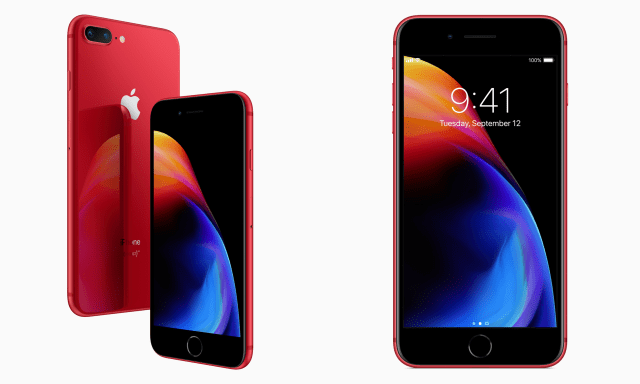(PRODUCT) RED iPhone 8 and 8 Plus