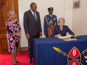 Theresa May in Kenya