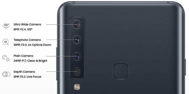Samsung Galaxy A9 four cameras