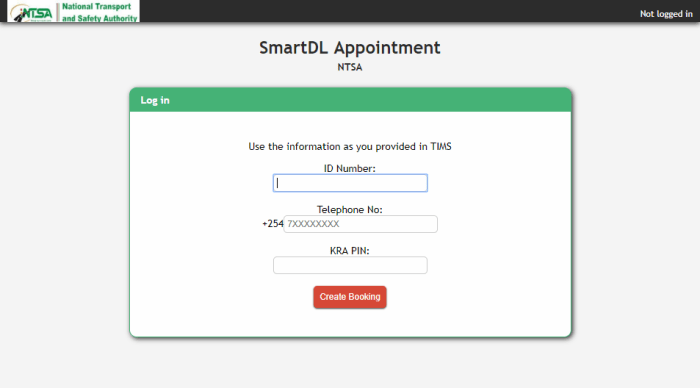 ntsa smart dl appointment