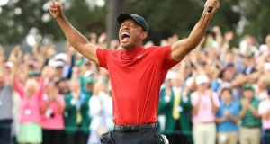 tiger woods masters win social media