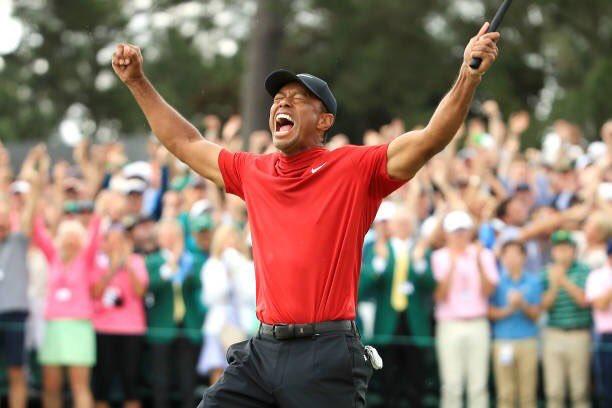 tiger woods masters win social media