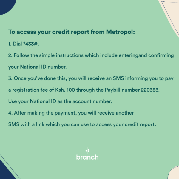 How to check credit report from Metropol