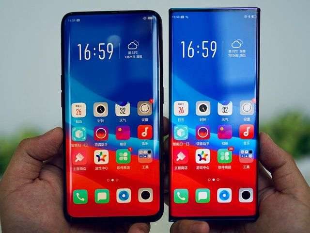 oppo waterfall display