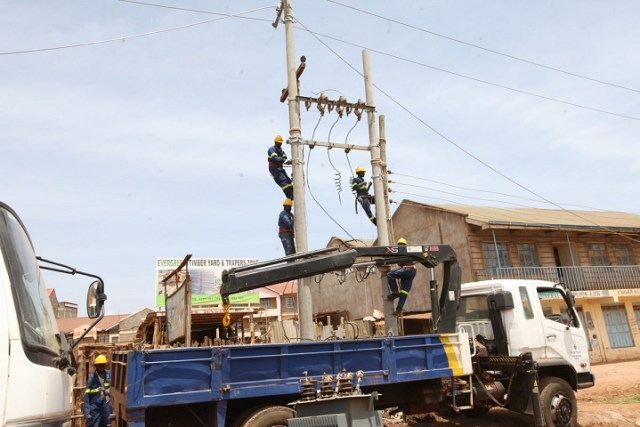 kenya power telcos fiber optic