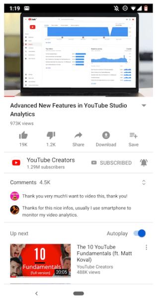 Google YouTube New UI