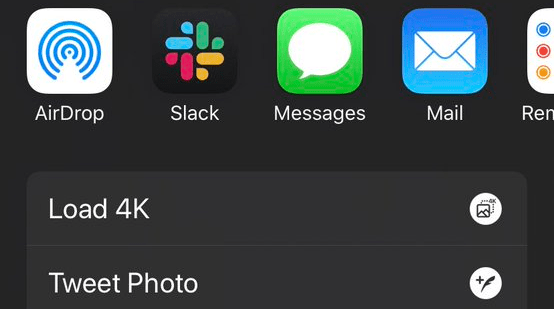 twitter loads 4k photos on iOS