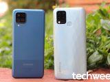 Samsung Galaxy A12 vs Infinix Hot 10T back